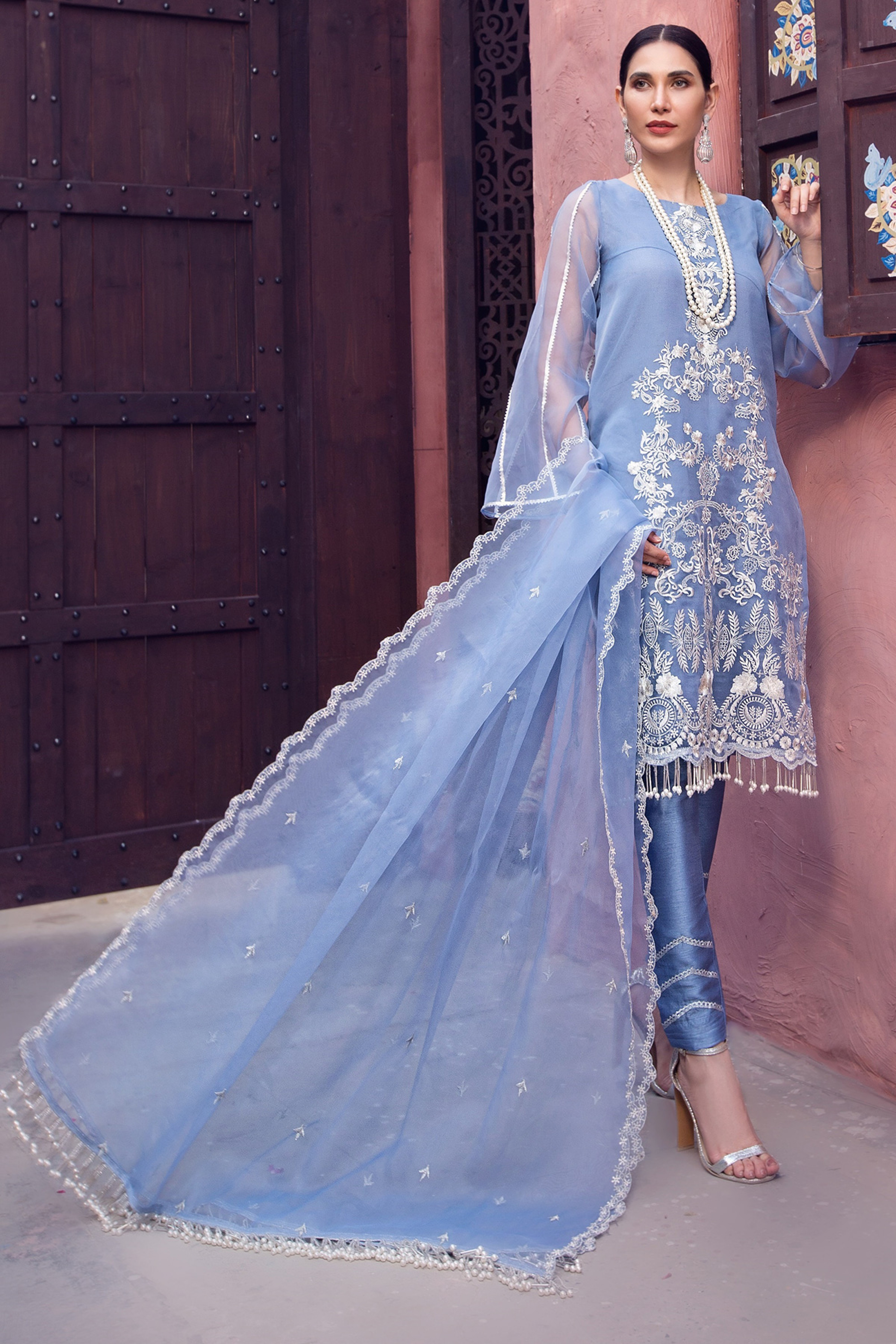 DIAMOND(Unstitched Shirt & Dupatta)
