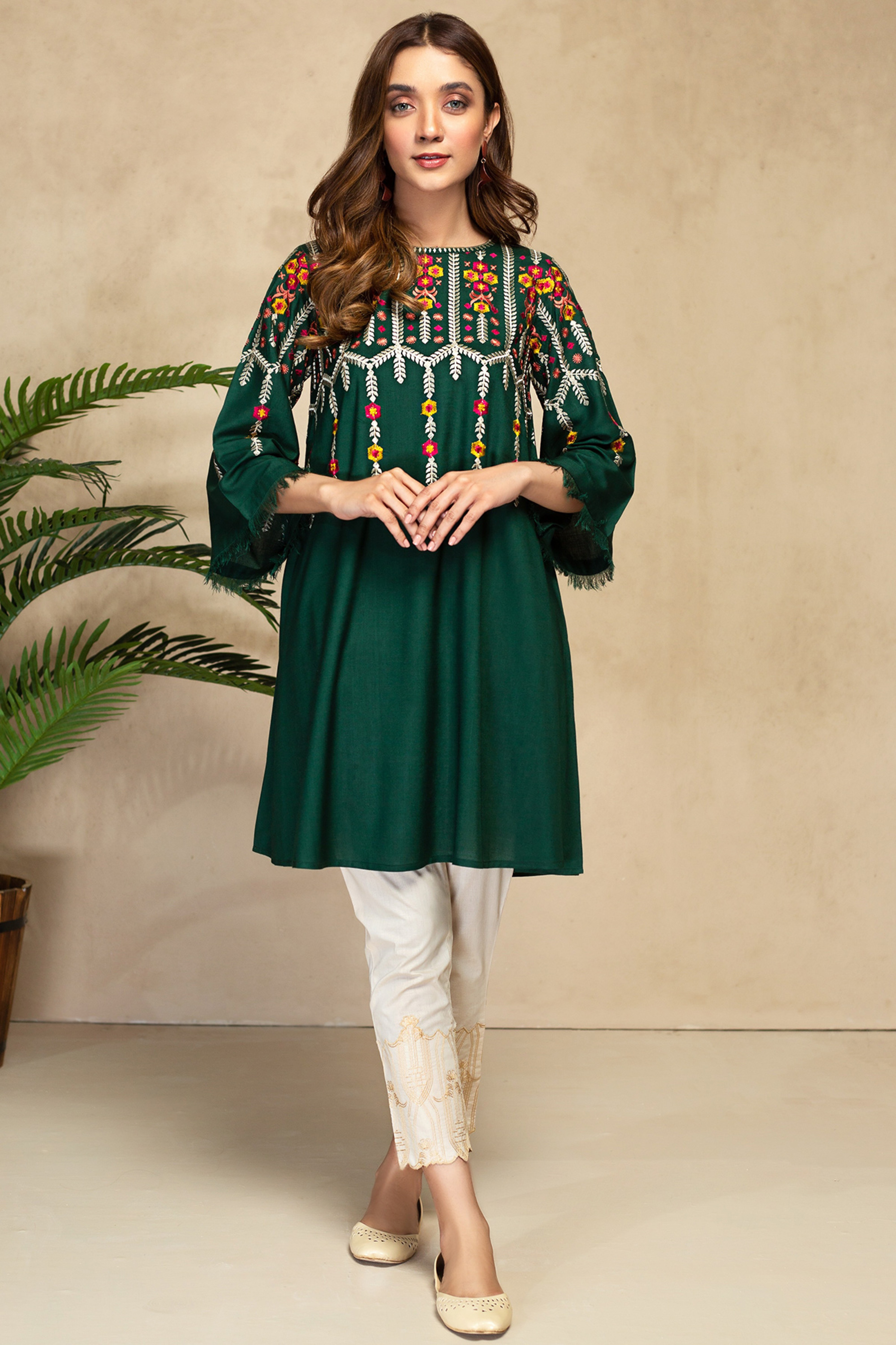 PERIDOT(Embroidered Frock)