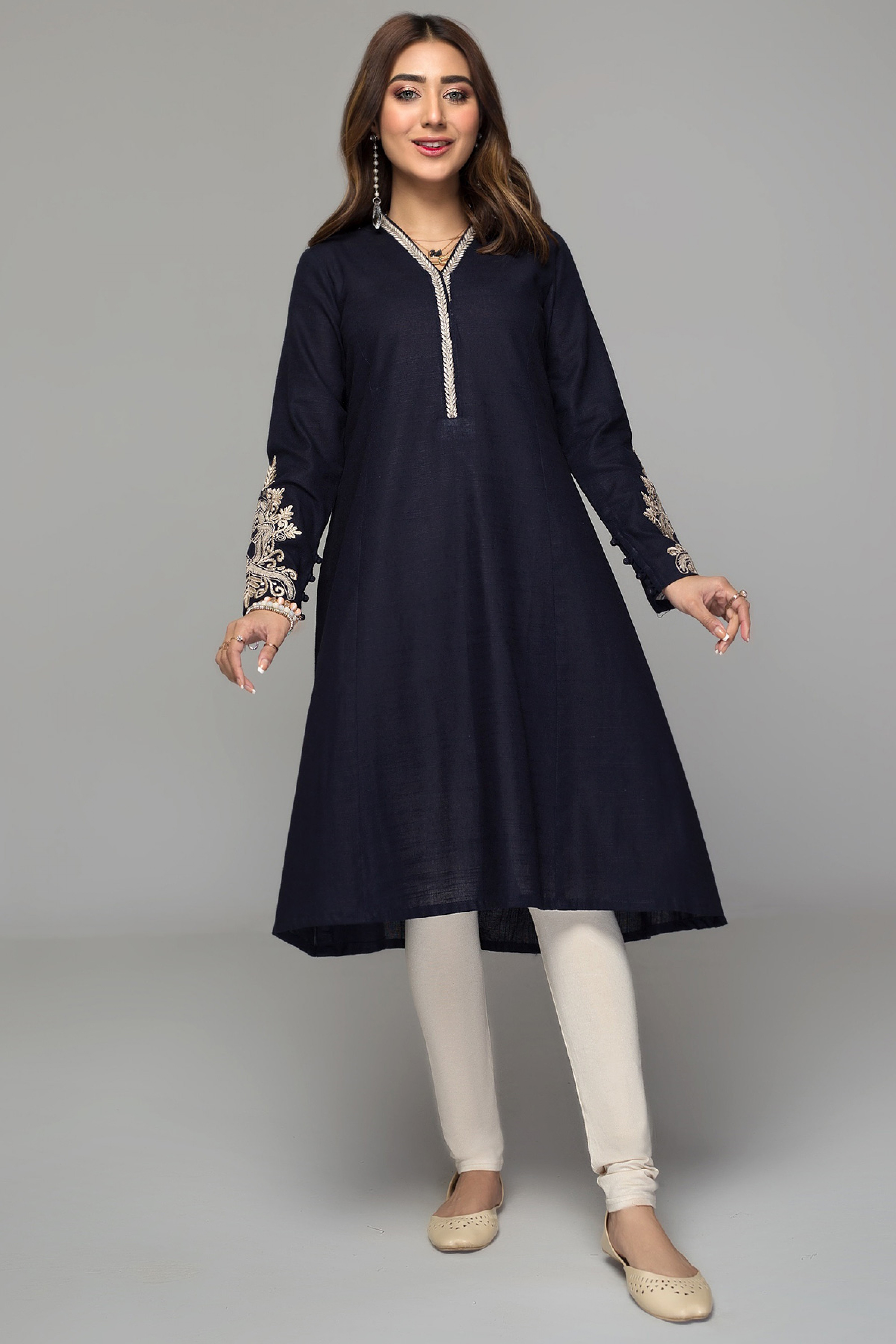 BLUE BELL(Embroidered Frock)