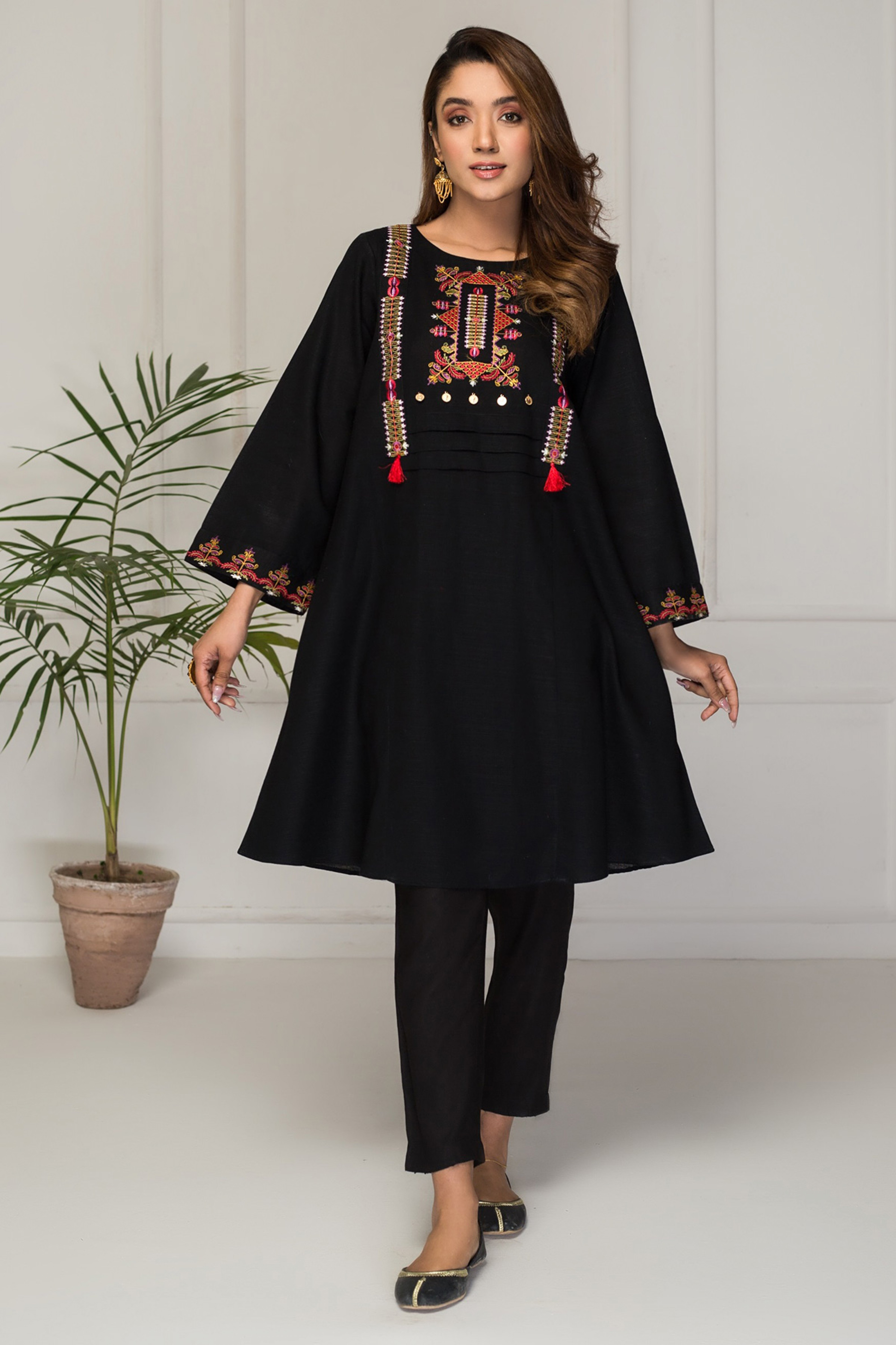 WIND SONG(Embroidered Frock)