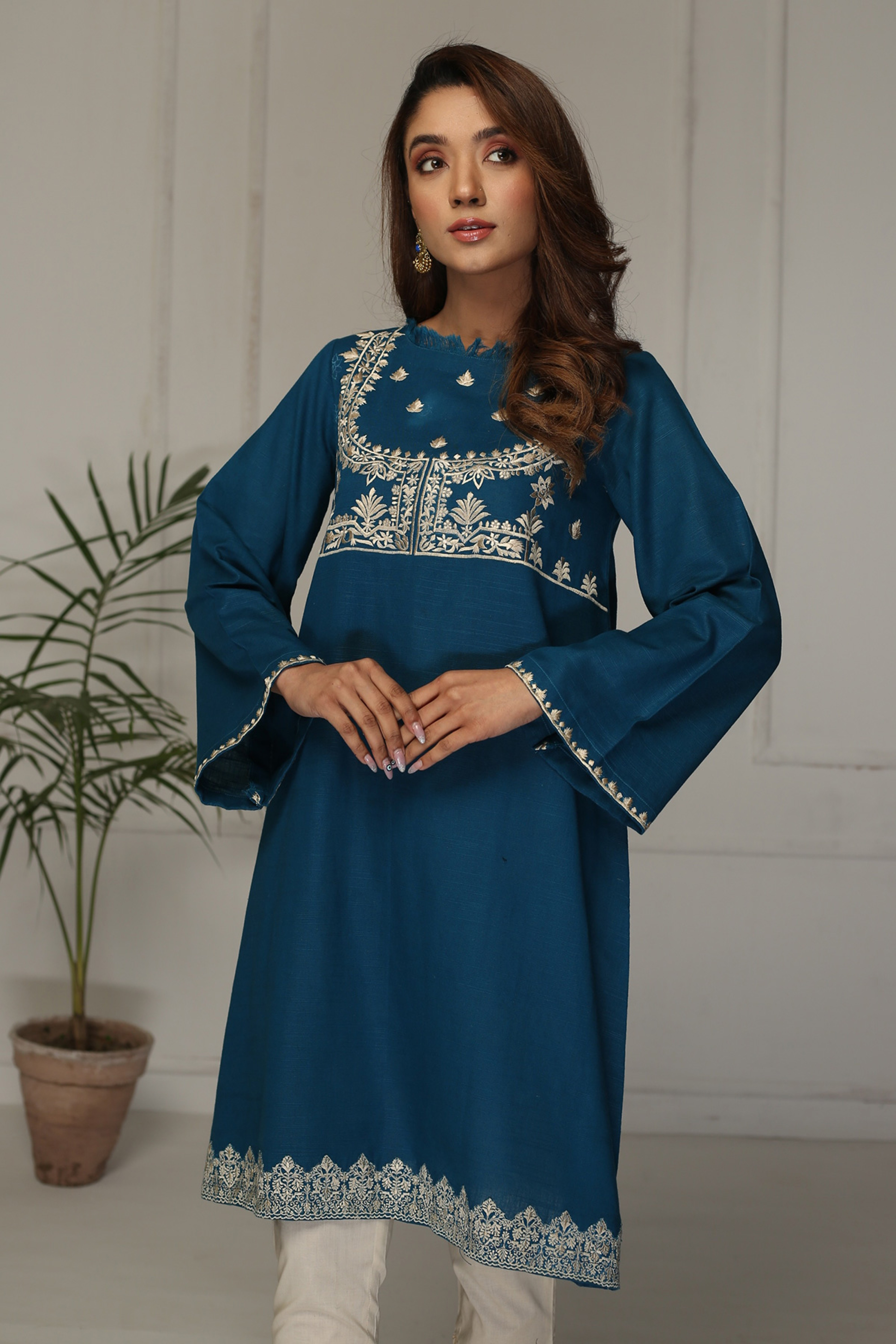 SNOW DROP(Embroidered Frock)