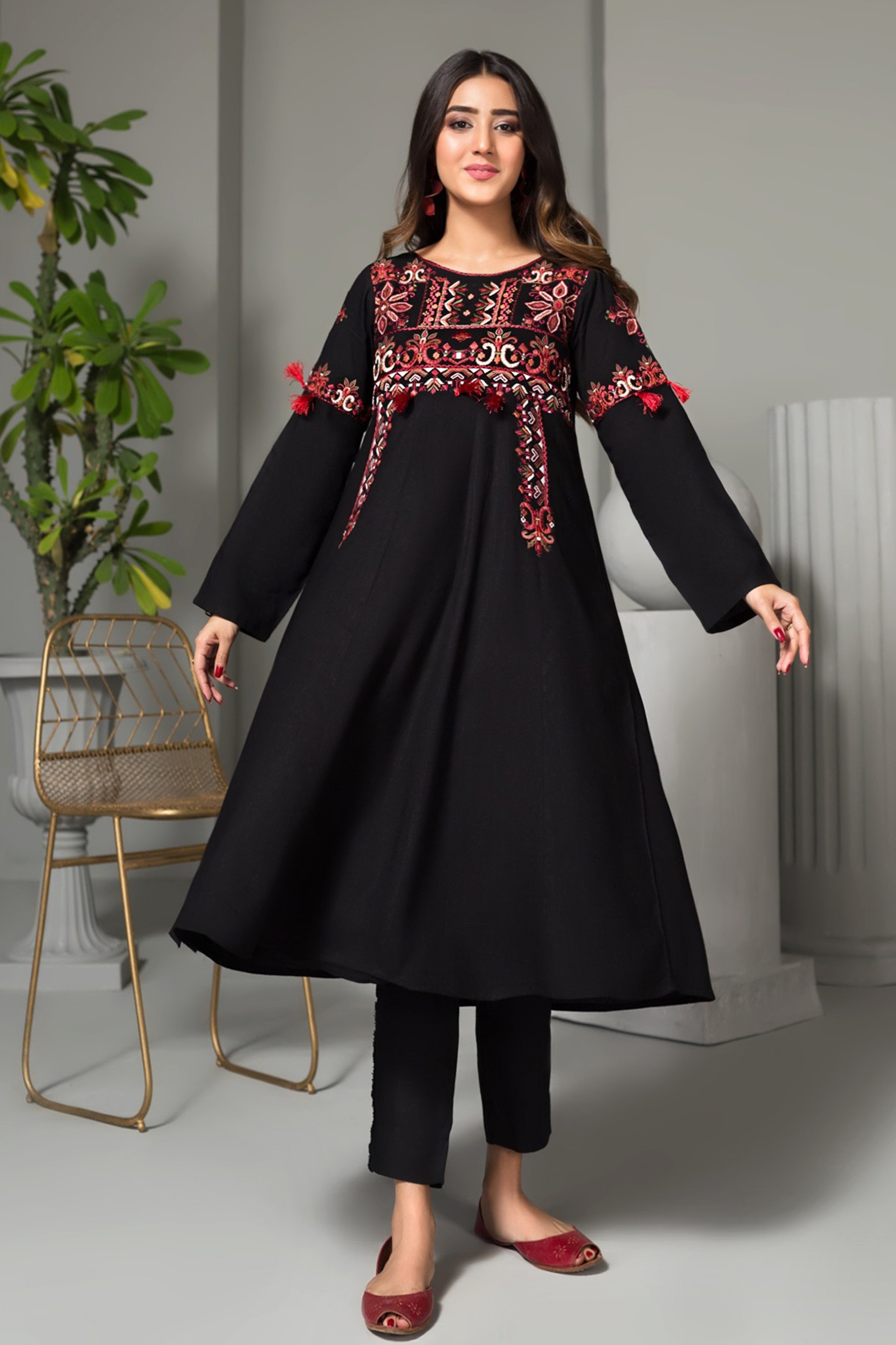 AFTER DARK(Embroidered Frock)