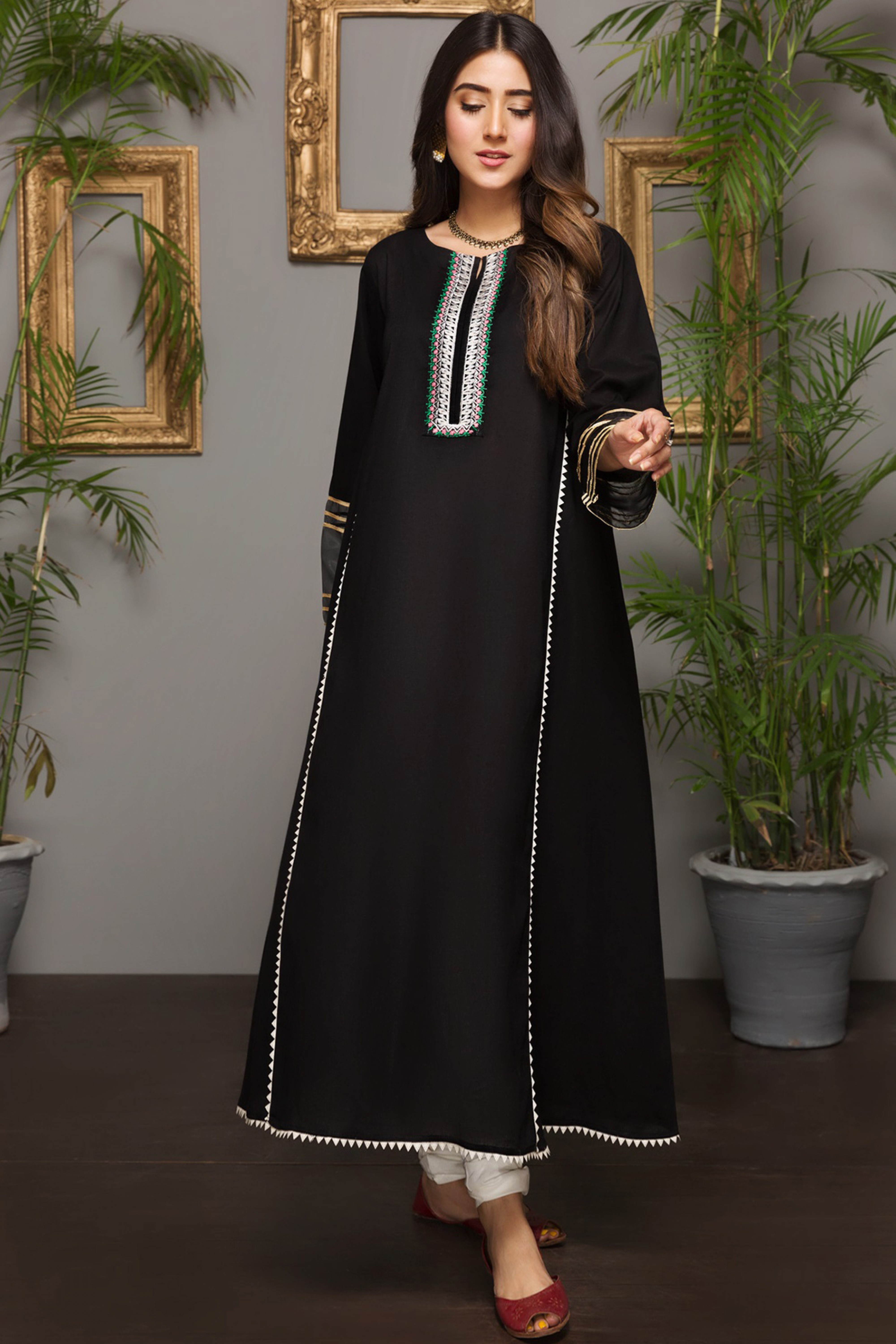 BLACK SUN (Embroidered Frock)