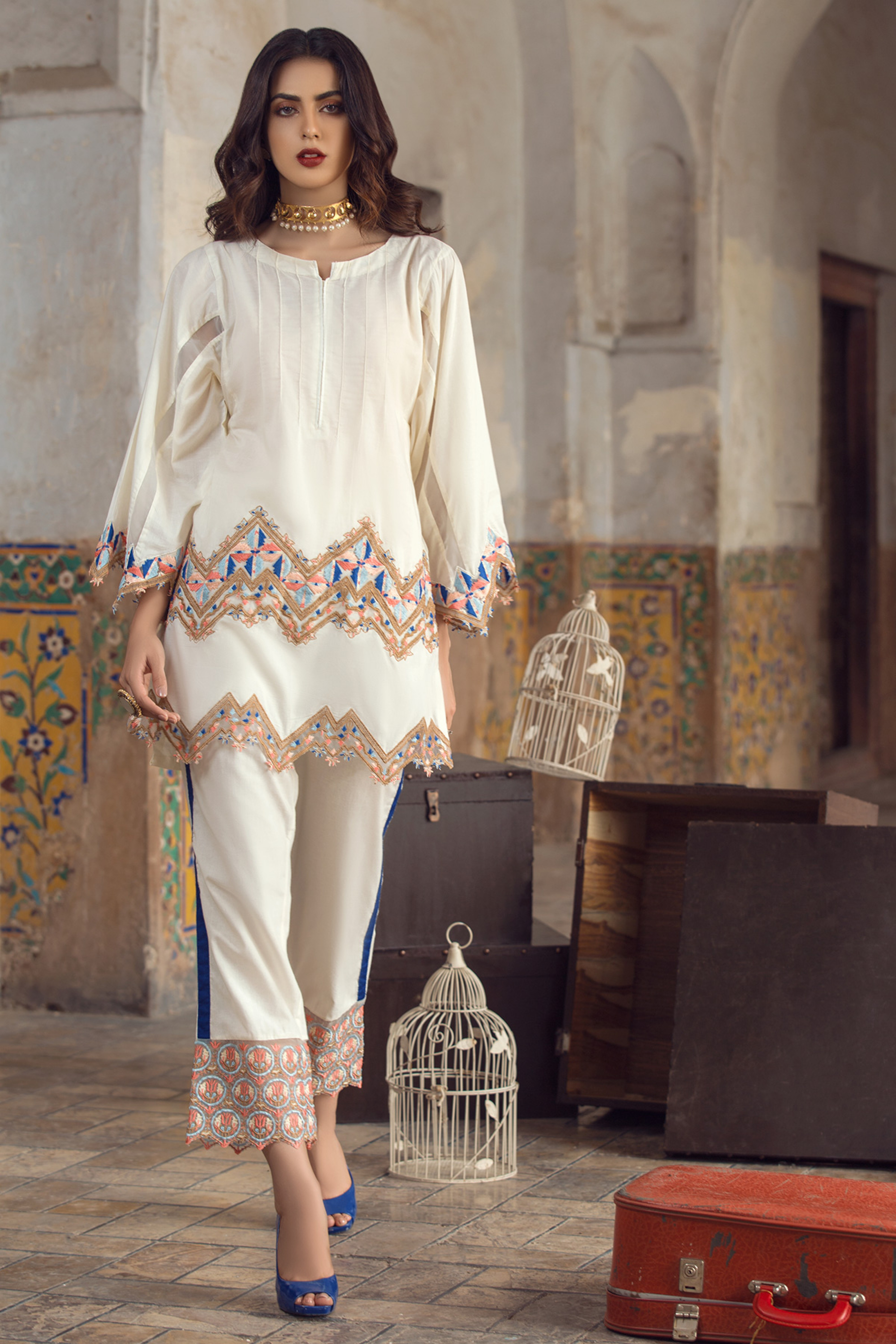 BEGONIA(EMBROIDERED SHIRT  & TROUSER)