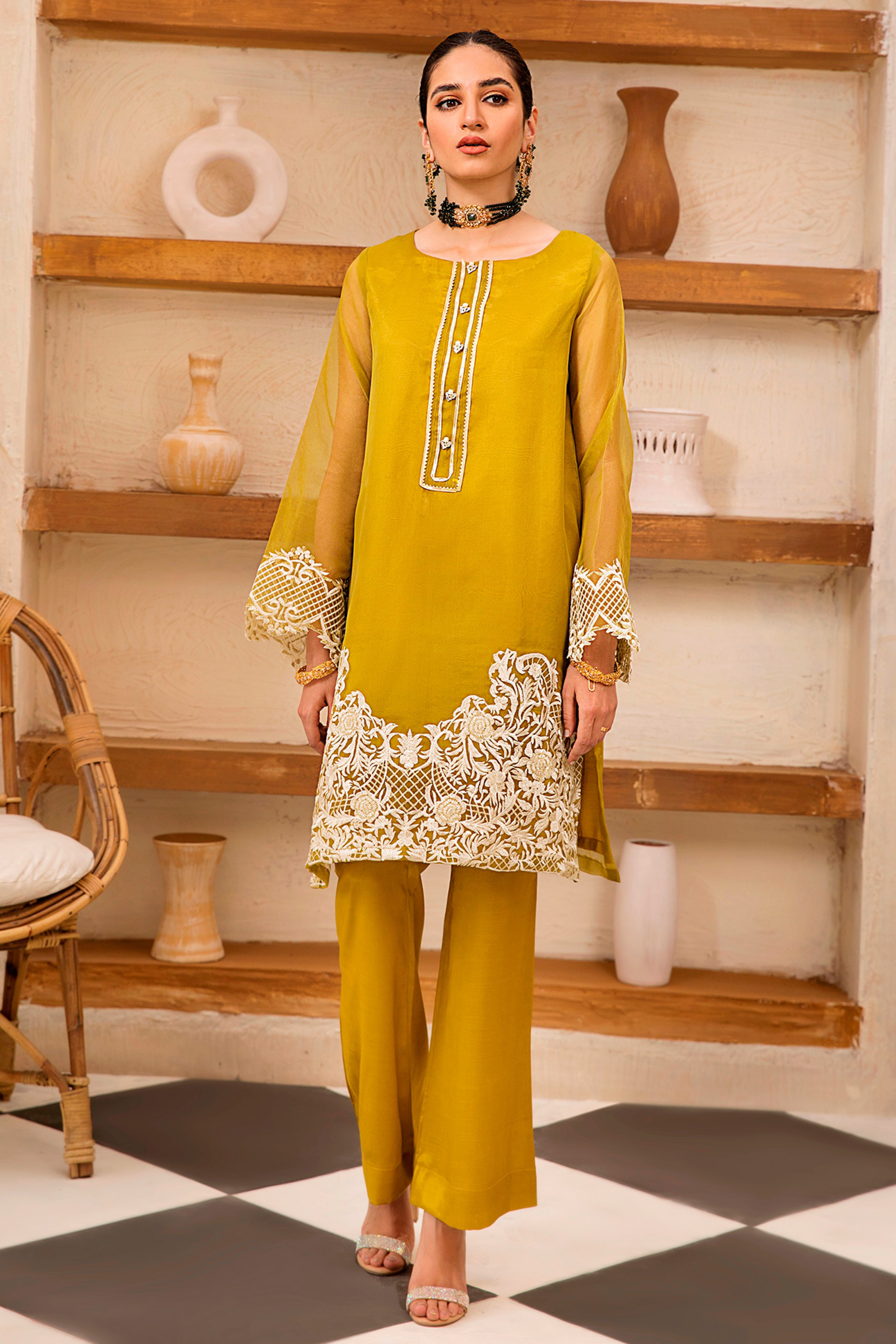 SOFIA(Embroidered Shirt & Trouser)