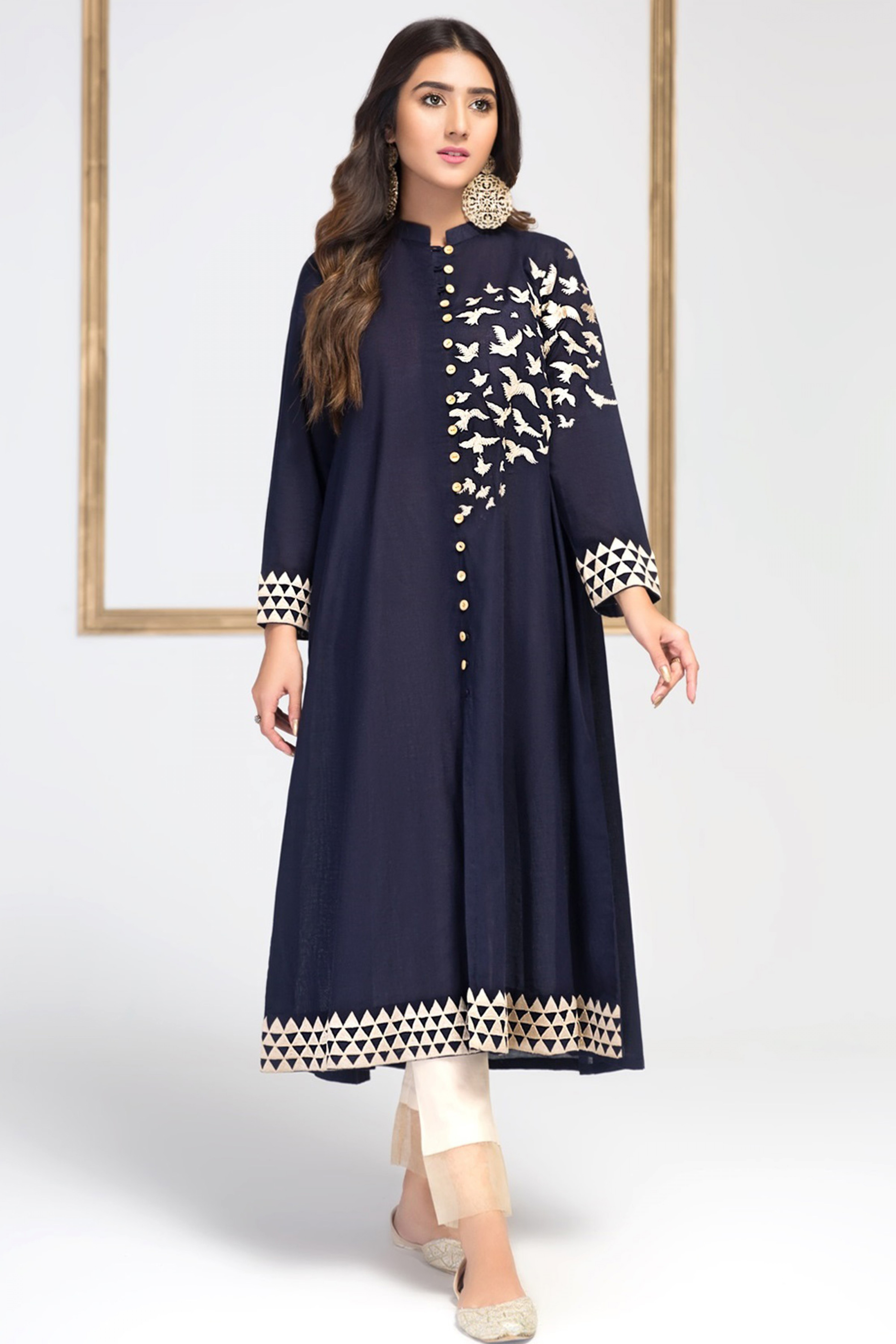BLUE TOUCH(Embroidered Frock)