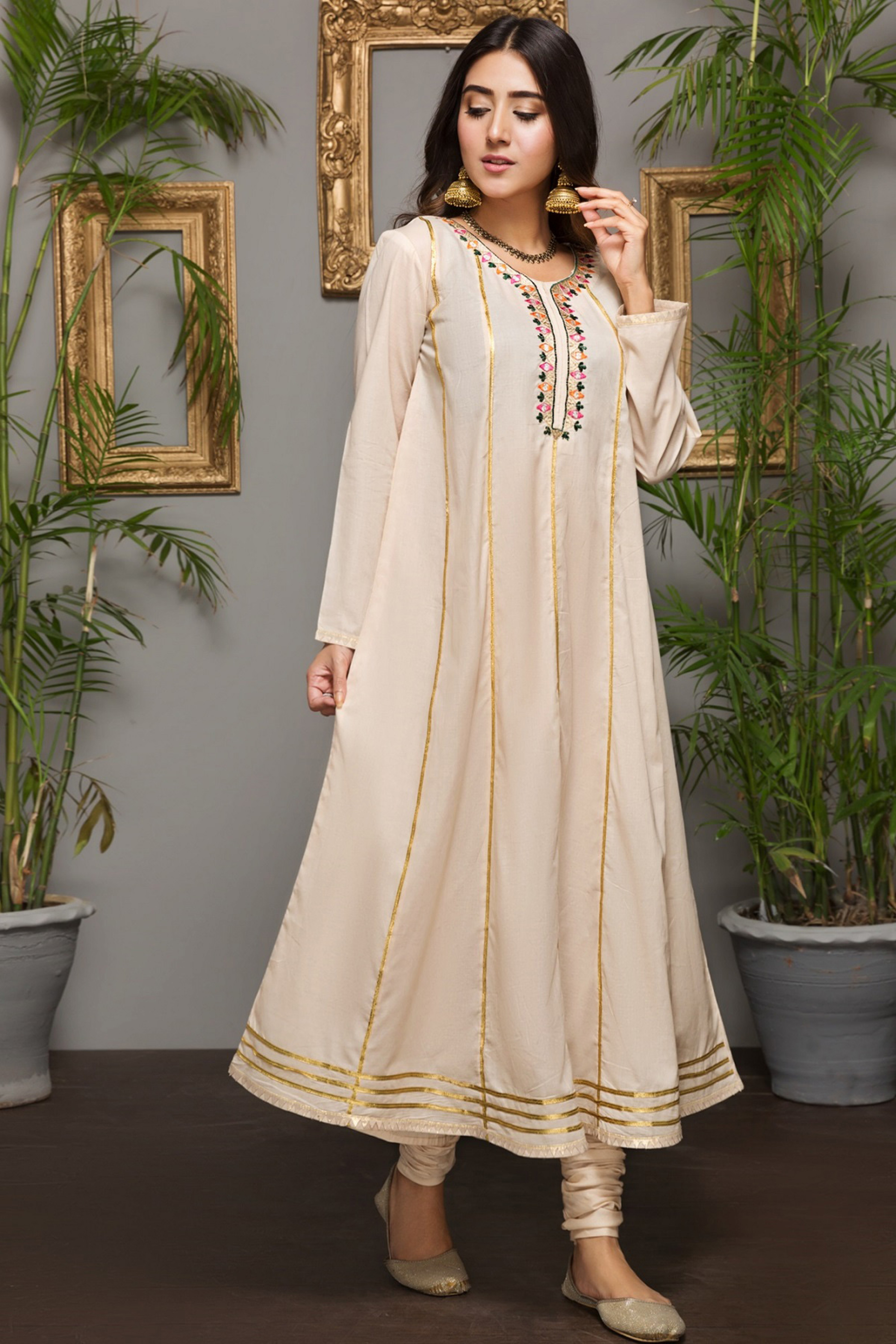 WHITE ROSE (Embroidered Frock)