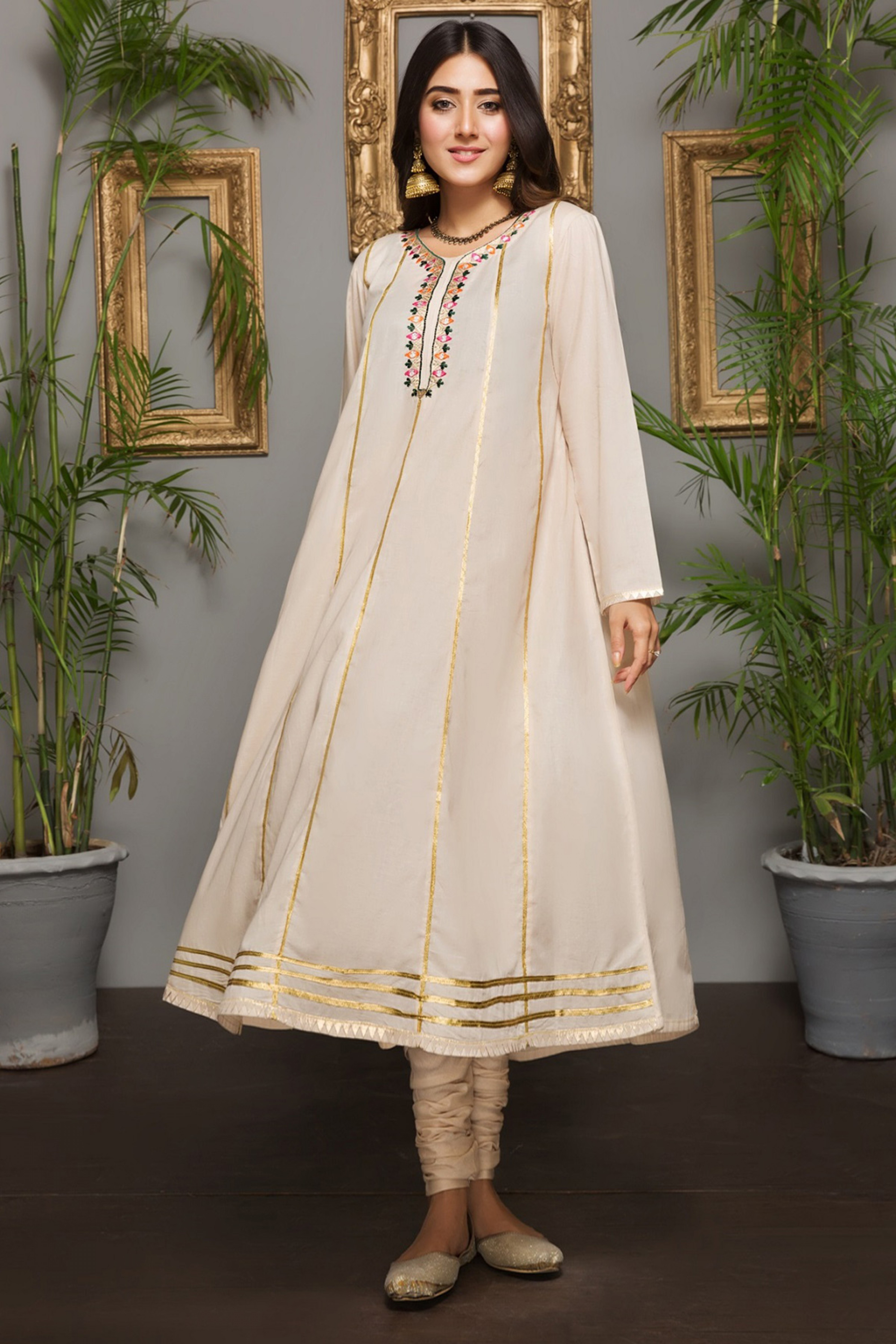 WHITE TULIP (Embroidered Frock)