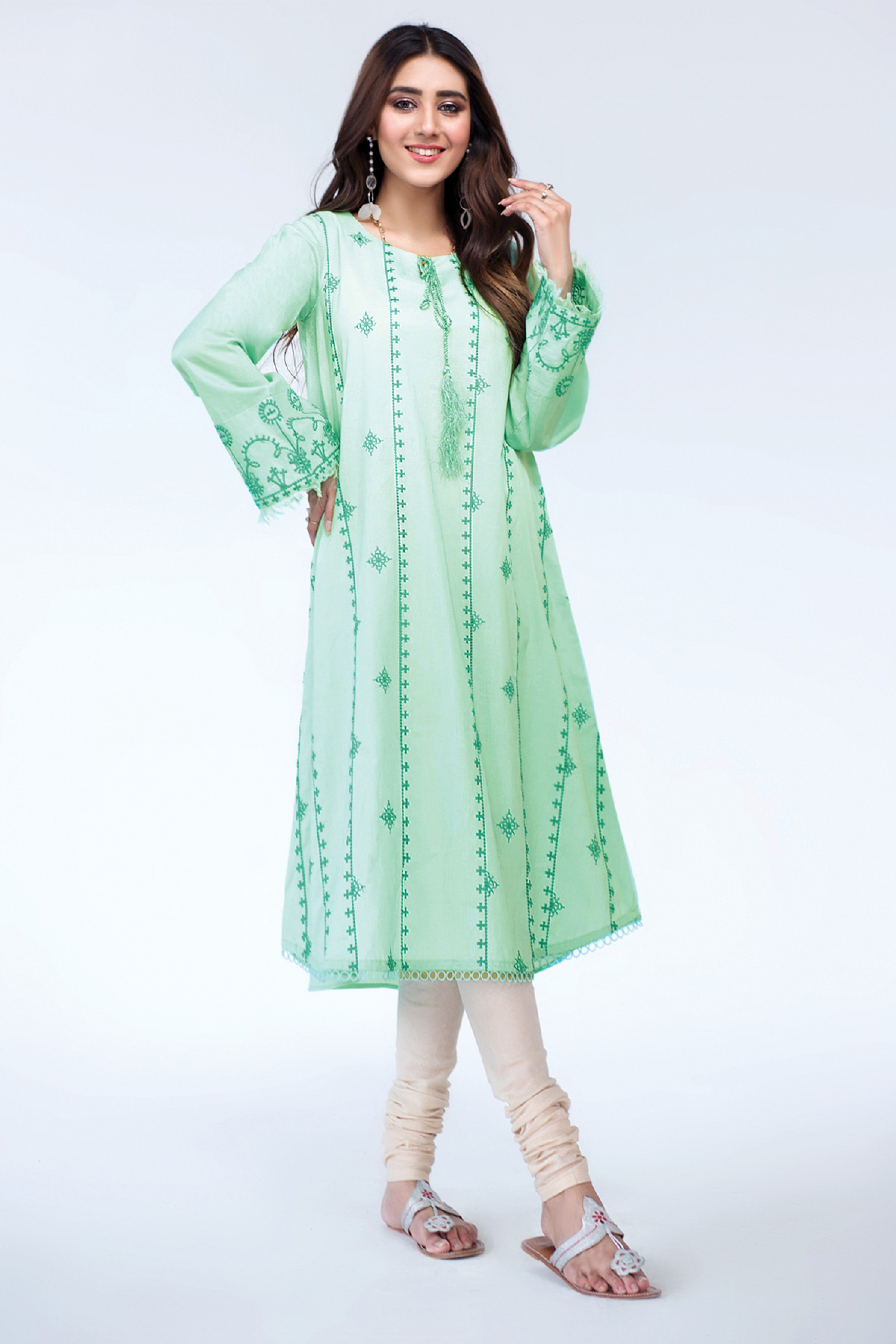 DAY LILLY(Embroidered Frock)
