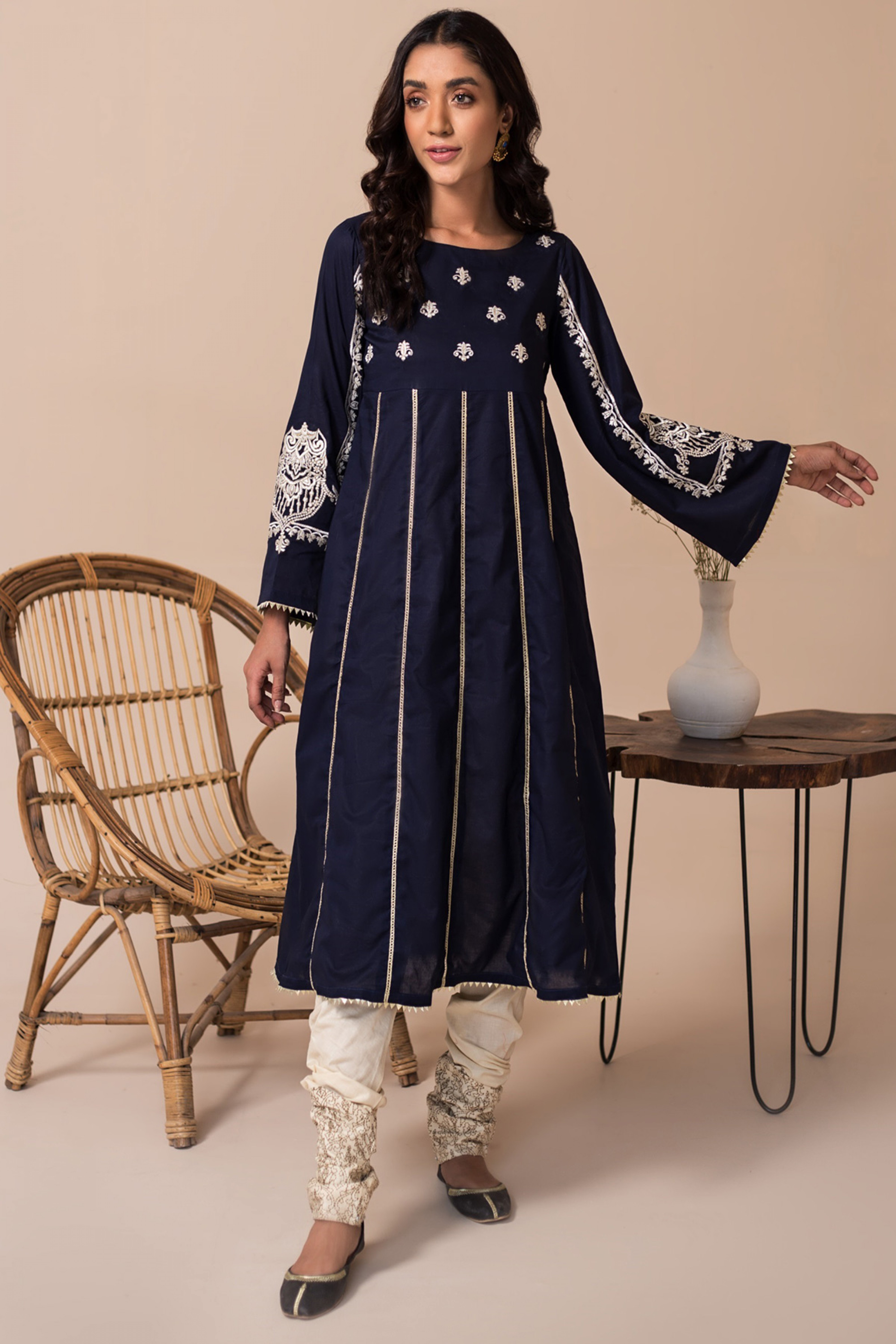 LAZULITE(Embroidered A Line Frock)