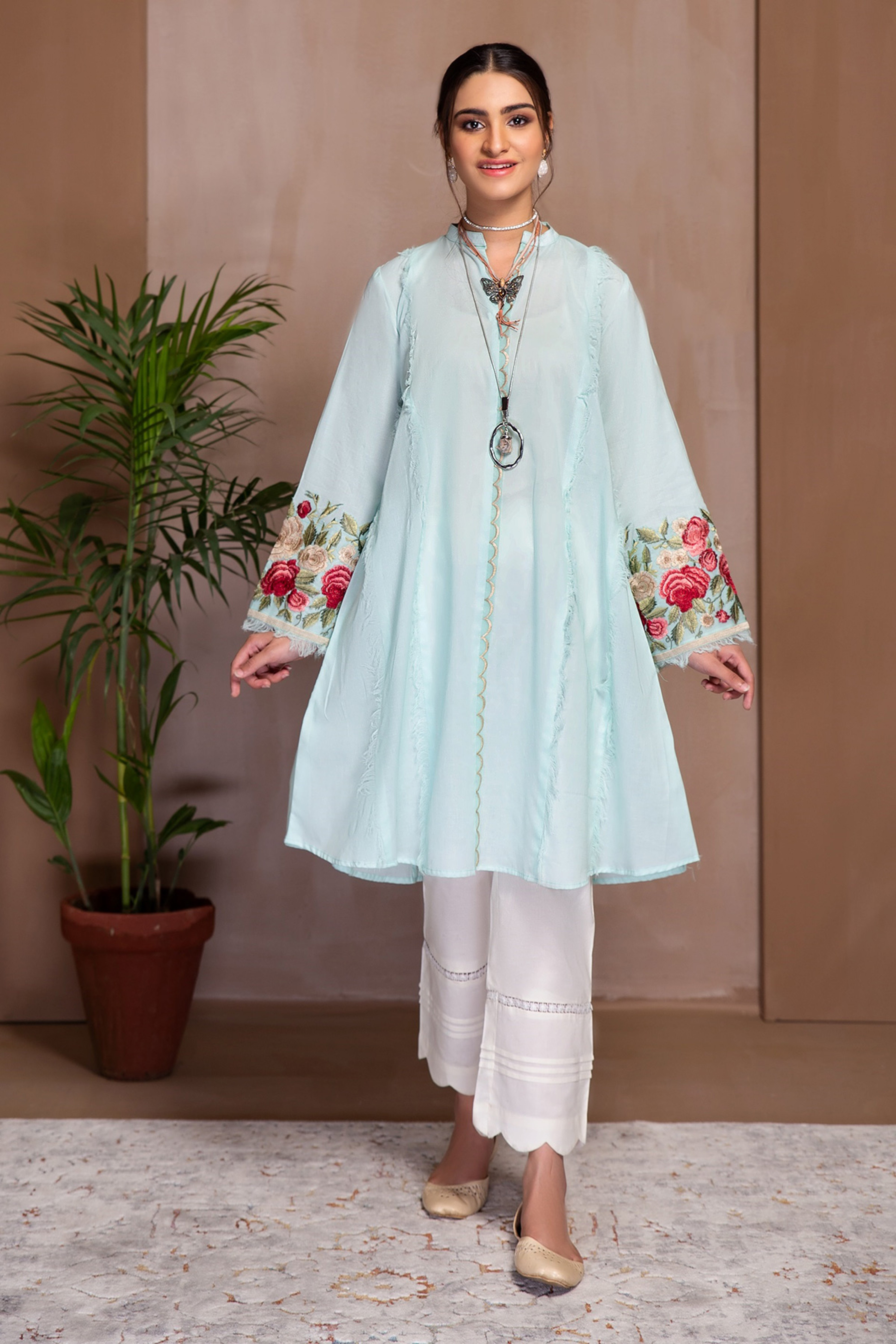 ASTER(Embroidered A Line Frock)