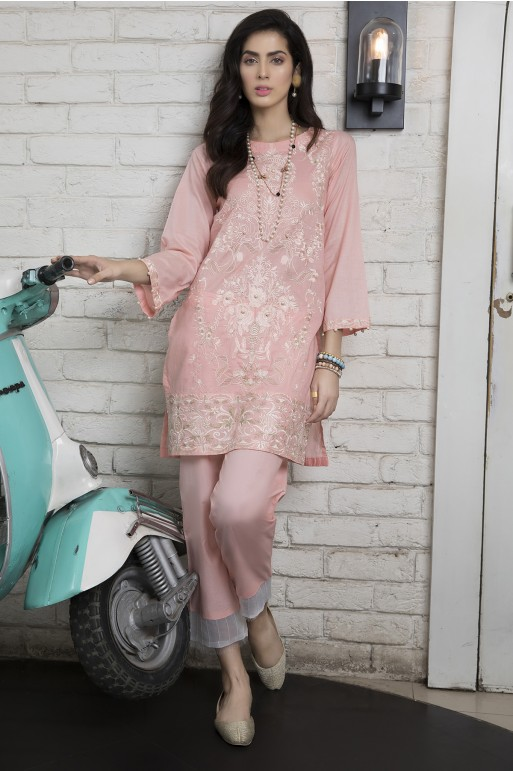 PINK BLOSSOM (EMBROIDERED SHIRT )